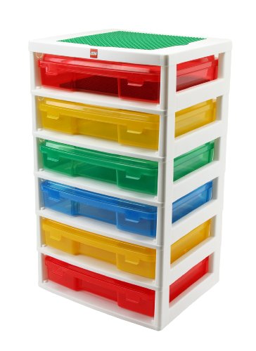 IRIS LEGO 6-Case Workstation and Storage Unit with 2 Base Plates