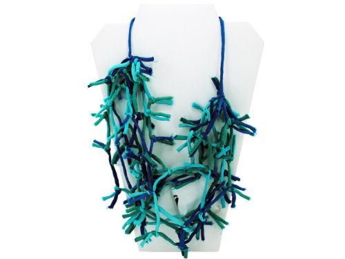 Wholesale Set Of 16, Turquoise Knotted Necklace (Jewelry, Necklaces), $4.76/Set Delivered