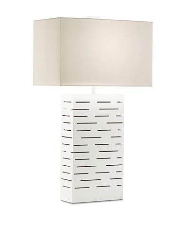 Rift Standing Table Lamp In Gloss White