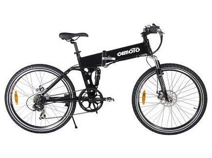 Cemoto E-18-B Mountain Electric Folding Bike, Black