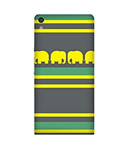 Stripes And Elephant Print (32) Huawei Ascend P6 Case