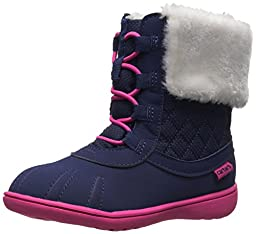 carter\'s Kenzie2 Winter Outdoor Boot (Toddler/Little Kid), Navy/Pink, 10 M US Toddler