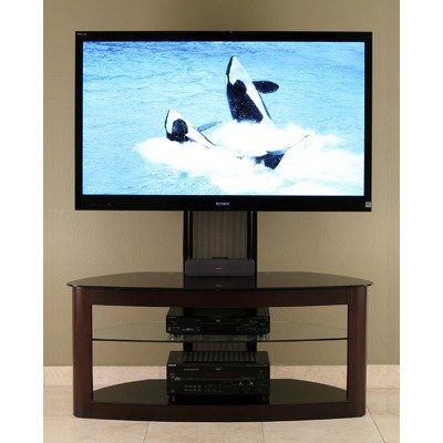 Cheap 50″ Flat Panel TV Stand with Mount in Espresso (TD600ES)