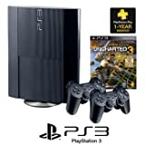 PlayStation®3 250GB 2 Controller Bundle with Uncharted 3 and PS Plus 12-month Membership