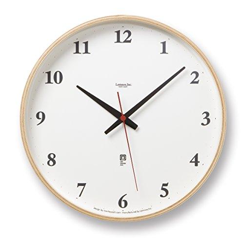 Lemnos Plywood clock 電波時計 ナチュラル LC05-01W NT