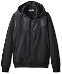 Kappa Men's Vareta Sport Fleece Jacket, Black, S