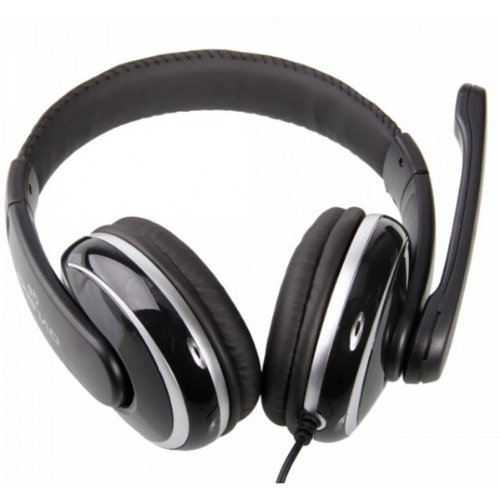 Usb 2 0 Jack Stereo Headset Headphone With Microphone Blakc &Amp Silver