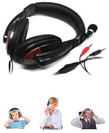 MQ Stereo Headset Kopfhörer Mikrofon PC VoIP Skype MSN gepolstertet
