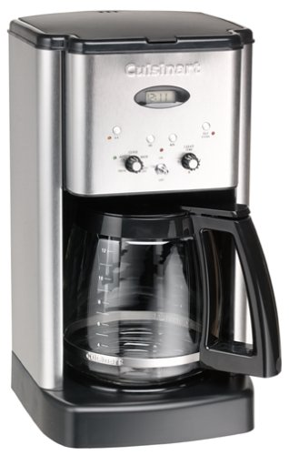 Cuisinart DCC-1200 12-Cup Brew Central Coffeemaker, Black and Brushed Metal