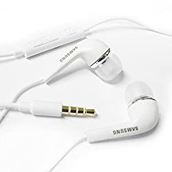 Samsung EHS64AVFWE Samsung 3.5mm EHS64 Stereo Headset with Remote and Mic - White Original OEM EHS64AVFWE - Wired Headsets (White)