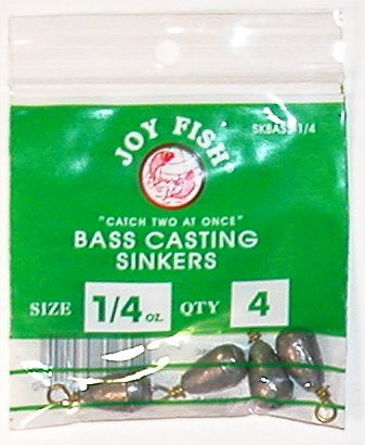 JOY FISH 1/4 oz. Bass Cast Sinker (Doz.)