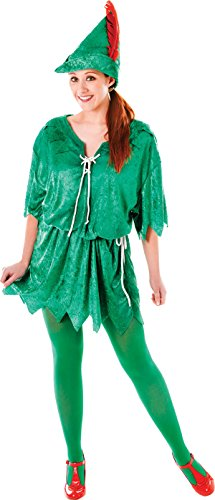 Adult Unisex Green Elf Costume Peter Pan Robin Hood Fancy Dress Christmas Outfit