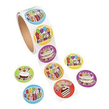 Fun Express 100 Birthday Roll Stickers