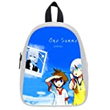 Kingdom Heart Game One Summer For Kid Blue Color Backpack Satchel School Bag Size L