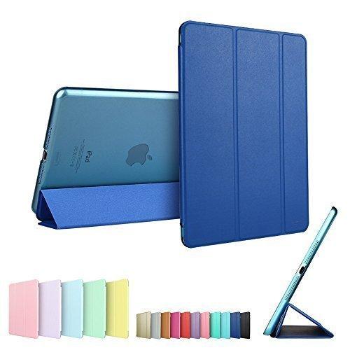 Custodia per iPad Mini 3,ESR Smart Cover and Case with Clear Back Shell per Apple iPad Mini 1/2/3 Blu Marino