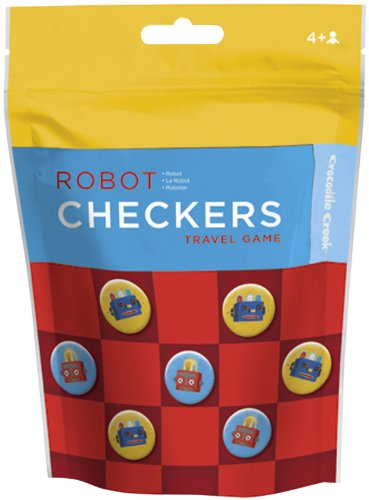 Crocodile Creek Pouch Game Checkers/Robot