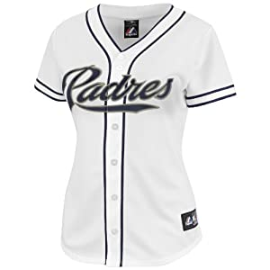 MLB San Diego Padres Home Replica Baseball Ladies Jersey, White by Majestic