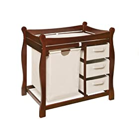 Badger Basket Company Sleigh Style Changing Table