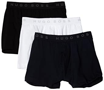 BOSS HUGO BOSS Men's Boxer 3 Pack, Blue/White/Black, Large