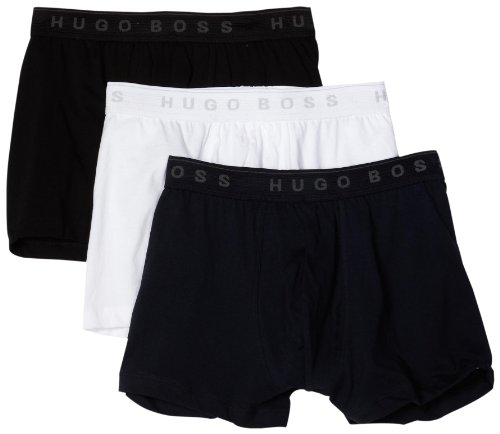 HUGO BOSS Men's Boxer 3 Pack, Blue/White/Black, Medium