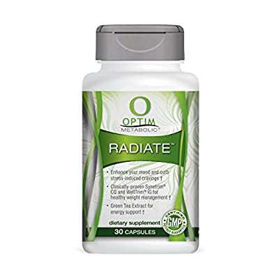 Optim Metabolic Radiate with Clinically Proven Ingredients for Appetite Suppressant, Weight Management