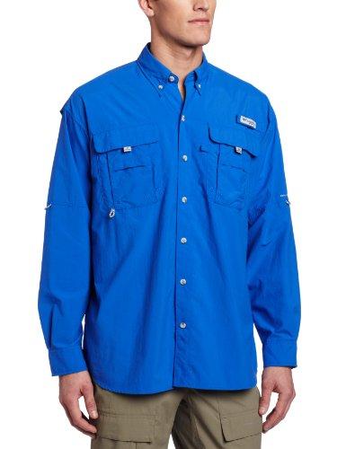 Columbia Men'S Bahama Ii Long Sleeve Shirt (Xx-Large, Vivid Blue) front-983924