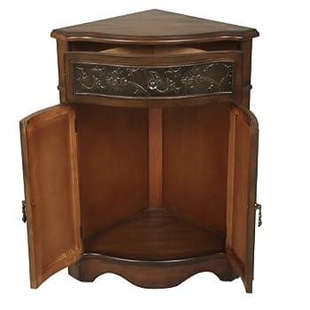 Walnut Corner Cabinet