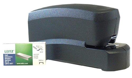 Esselte Leitz 55300095 Elektrisches Heftgerät, Heftleistung 10 Blatt, schwarz