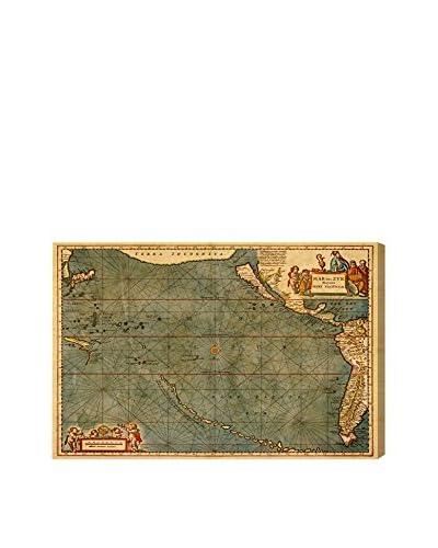 "Oliver Gal Mare Pacificum Map 1600s Canvas Art, Multi, 16"" x 24"""