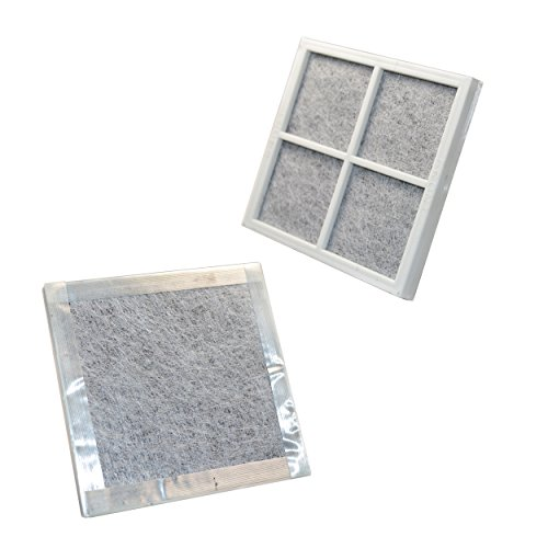 HQRP 2-pack Air Filter for Kenmore Elite Refrigerators 04609918000 / 469918 / 9918 Elite CleanFlow Replacement + HQRP Coaster