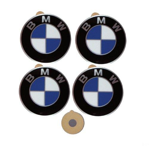 4 BMW Genuine Wheel Center Cap Emblems Decals Stickers 64.5mm (BMW)