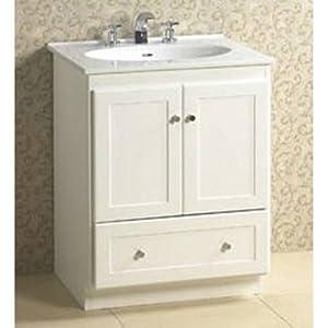 Modular Shaker 24 Bathroom Vanity Base Base Finish Dark Cherry Home Improvement