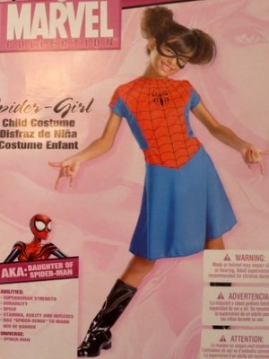 Women of Marvel Spider-Girl Costume Spider Girl Dress Spidergirl Size Girls