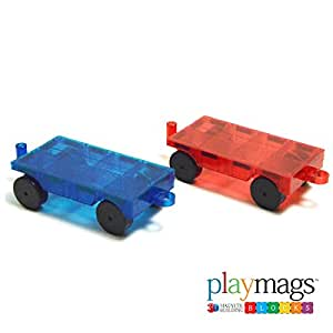 playmags 2 piece car set compatible with all magnetic tiles toys games. Black Bedroom Furniture Sets. Home Design Ideas