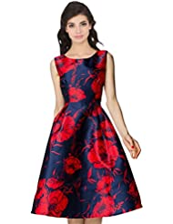Kyrozz Westen Black And Red Printed Semistiched Kurti