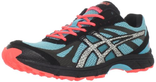 ASICS Women's GEL-Fuji Racer Trail Running Shoe,Aqua/Cement/Electric Melon,8 M US
