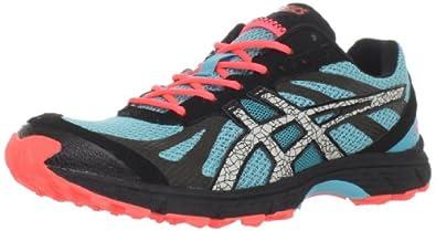 ASICS Women's GEL-Fuji Racer Trail Running Shoe,Aqua/Cement/Electric Melon,6.5 M US