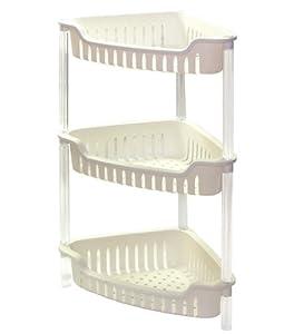 Triangular Plastic Bathroom Bath Corner Rack Shelfing Unit