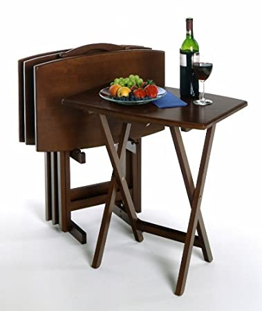 Winsome 5pc Oversize TV Table