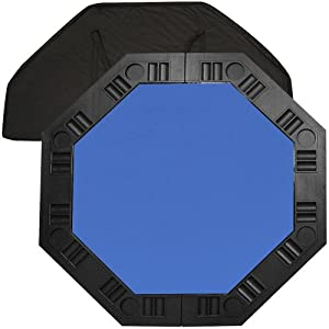 Trademark Poker 48-Inch 8-Player Octagonal Poker Tabletop (Blue)