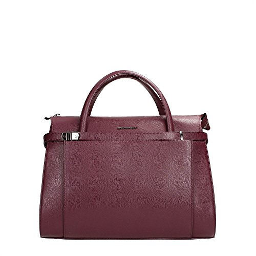 Mandarina Duck Top Handle Handbag Leather Heritage Wine