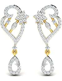 Sparkles 18k Yellow Gold And Diamond Stud Earrings