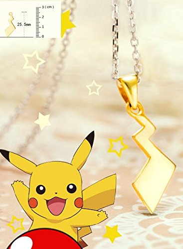 Skylynn Anime Pokemon collana in argento silver necklace (Pikachu Tail)