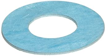 Aramid/Buna-N Flange Gasket, Ring, Blue, Fits Class 150 Flange