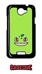 Caseque Bulbasaur Green Back Shell Case Cover for HTC One X