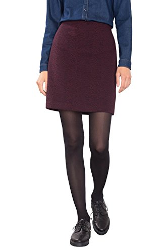 ESPRIT 106EE1D010, Gonna Donna, Multicolore (Bordeaux Red), 44 (Taglia Produttore: XX-Large)