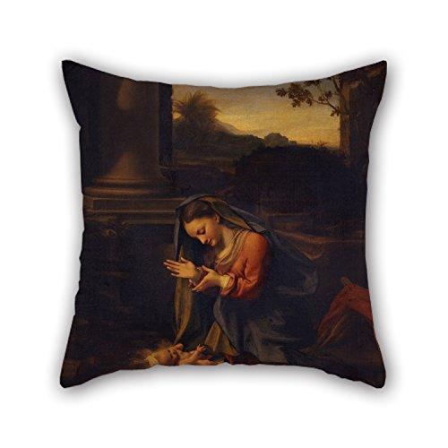 artistdecor-16-x-16-inches-40-by-40-cm-oil-painting-correggio-la-vergine-che-adora-il-bambino-throw-