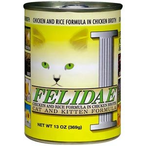 Felidae Canned Cat Food For Adult Cats And Kittens, Chicken And Rice Formula In Chicken Broth (Pack Of 12 13 Ounce Cans)