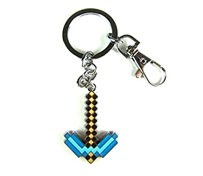 Minecraft Blue Diamond Pickaxe Keychain from MIC
