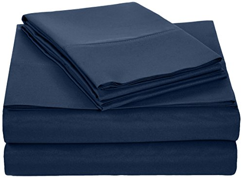 Why Should You Buy AmazonBasics Microfiber Sheet Set - Queen, Navy Blue